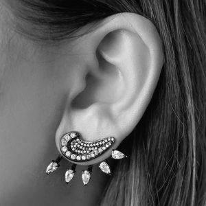 Brinco Ear Jacket Luna | Lanarée Acessórios