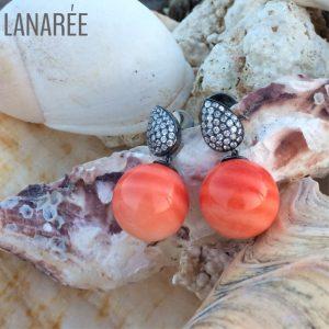 Brinco Coral | Lanarée Acessórios