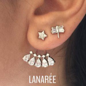 Ear Jacket Beatrice Prata 925   Lanarée Acessórios