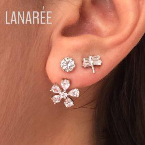 Ear Jacket Flor Prata 925 | Lanarée Acessórios
