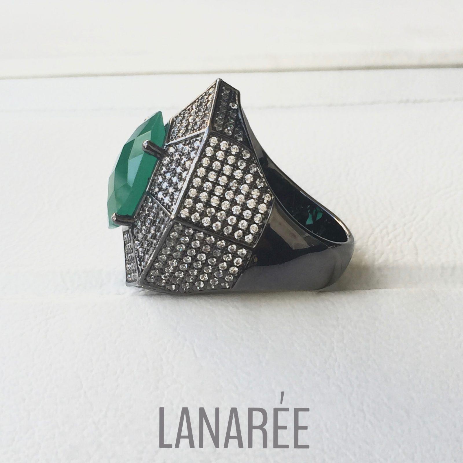 Anel Matisse Zircônia Branca | Lanarée Acessórios