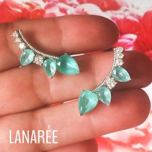 Ear Cuff Gotas Turmalina | Lanarée