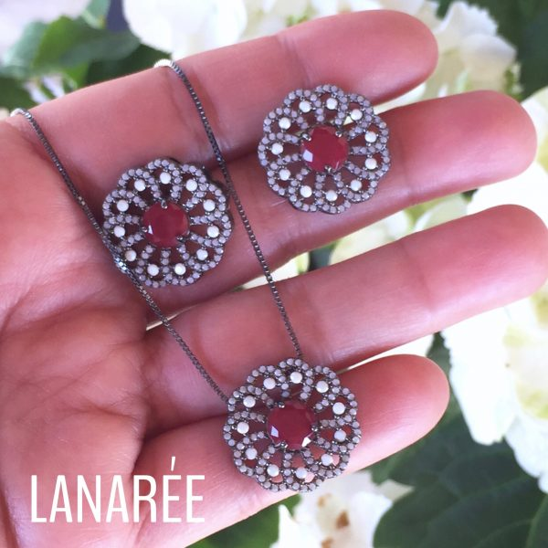 Conjunto Flor de Liz | Lanarée Acessórios
