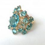 Anel Cristal Swarovski Light Turquoise Bernini | Lanarée Acessórios