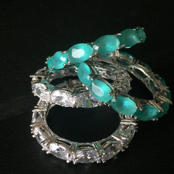 Anel Aparador Oval Turmalina Cristal   Lanarée Acessórios