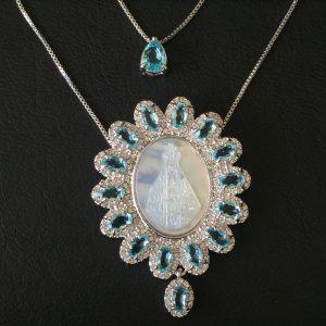 Colar Medalha Nossa Senhora Aparecida | Lanarée Acessórios
