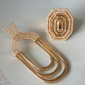 Anel Bauhaus Semijoia Banho Ouro | Lanarée Acessórios