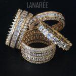 Anel de Prata 925 Cravejado Banho Ouro | Lanarée Acessórios