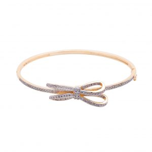 Bracelete Zircônia Laço Torcido | Lanarée Acessórios