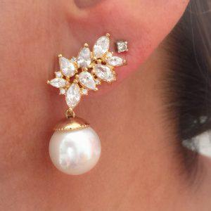 Brinco Ear Cuff Pérola | Lanarée Acessórios