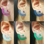 Brinco Ear Cuff Leque Turmalina Paraíba | Lanarée Acessórios