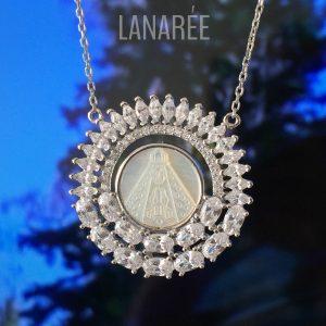 Colar Nossa Senhora Aparecida Prata 925 | Lanarée Acessórios