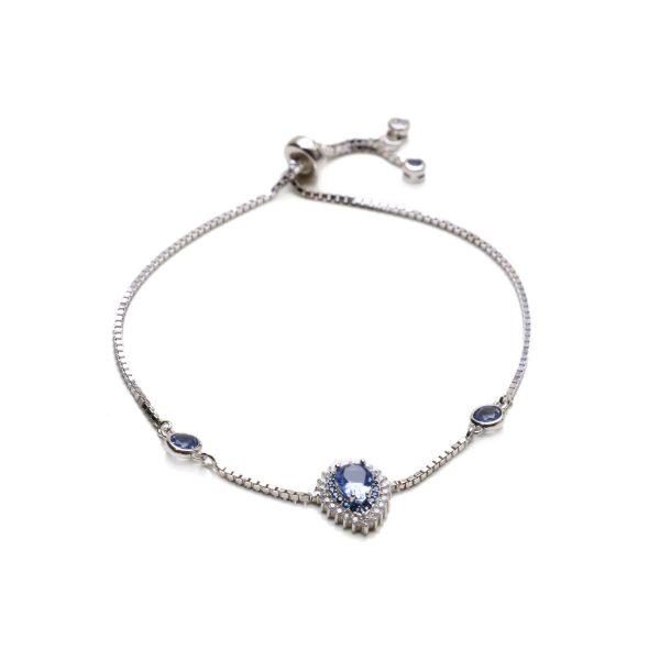 Pulseira Gota Cristal London Blue | Lanarée Acessórios