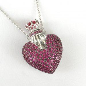 Colar Perfumeiro Coração Rubi | Lanarée Acessórios