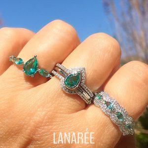 Anel Cristal Paraíba | Lanarée Acessórios