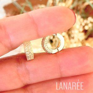 Brinco Argolinha Prata 925 Banho Ouro | Lanarée Acessórios