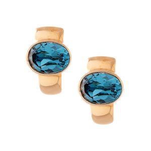 Brinco Cristal Azul - Swarovski Elements | Lanarée Acessórios