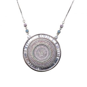 Colar Mandala Nano Opala Zircônia Colorida | Lanarée Acessórios
