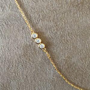 Colar Corrente Tiffany 3 Pontos de Luz | Lanarée Acessórios