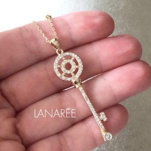 Colar Pingente Chave Mandala Leme | Lanarée Acessórios