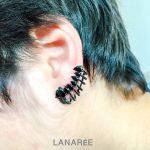 Brinco Ear Cuff Zircônias Gotas Negras | Lanarée Acessórios