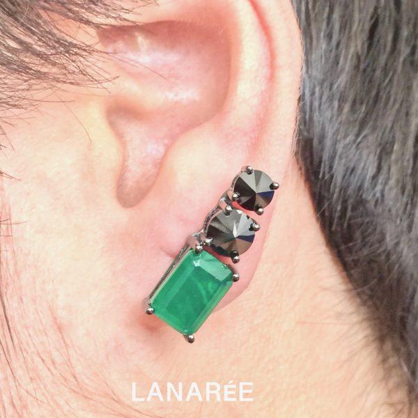 Brinco Ear Cuff Esmeralda Fusion | Lanarée Acessórios