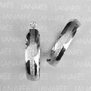 Brinco Argola com Textura Ródio | Lanarée Acessórios
