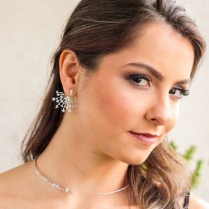 Brinco Ear Jacket Stars | Lanarée Acessórios