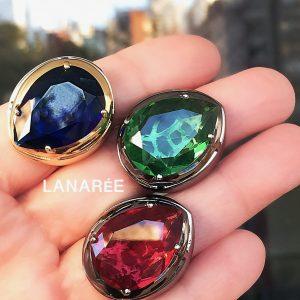 Anel Super Gota Cristal | Lanarée Acessórios