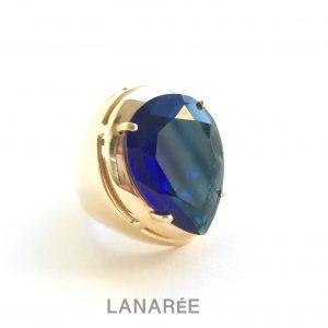 Anel Super Gota Cristal Safira | Lanarée Acessórios