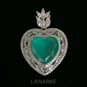 Colar Pingente Coração Turmalina Paraíba | Lanarée Acessórios