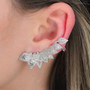 Brinco Ear Cuff Folhas Ina Freitas | Lanarée Acessórios