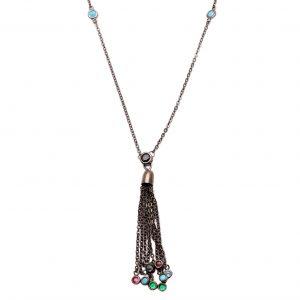 Colar Tiffany Franja Zircônias Coloridas | Lanarée Acessórios