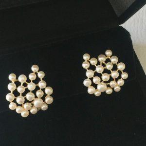 Brinco Pérolas Ouro Semijoia | Lanarée Acessórios