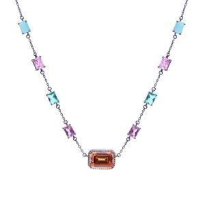 Colar Choker de Cristal Podange Semijoia | Lanarée Acessórios