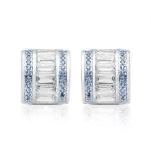 Brinco Piercing Falso Azul e Branca | Lanarée Acessórios