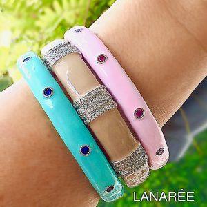 Pulseira Bracelete Esmaltado | Lanarée Acessórios