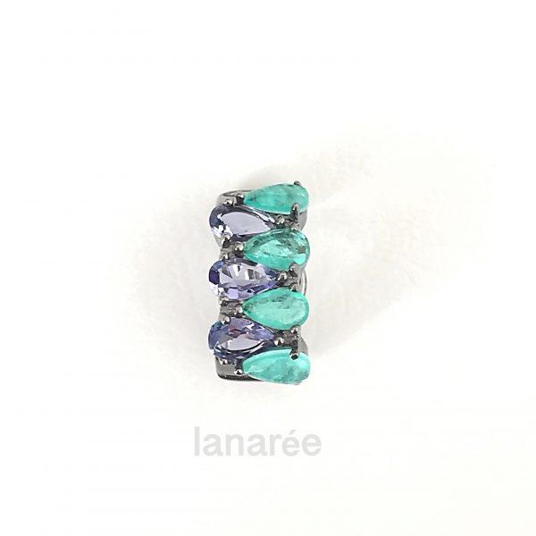 Brinco Piercing Gotas Tanzanita | Lanarée Acessórios