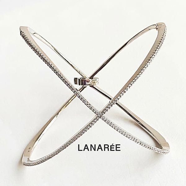 Pulseira Bracelete X Prata | Lanarée Acessórios