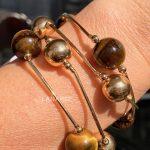 Pulseira Bolas Douradas Semijoia | Lanarée Acessórios