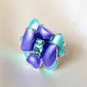 Anel Delicatesse Cristal Turmalina | Lanarée Acessórios