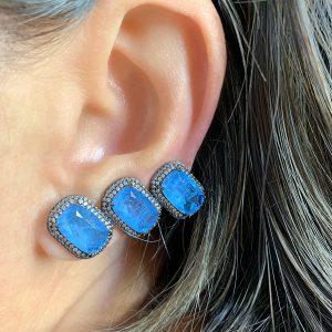 Brinco Ear Cuff Tanzanita Fusion | Lanarée Acessórios