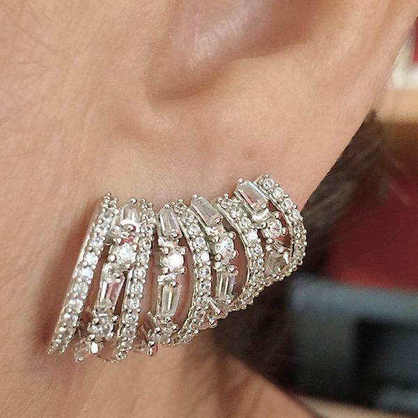 Brinco Ear Cuff Semijoia 9 Argolas | Lanarée Acessórios