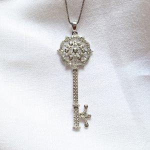 Colar Chave Mandala Prata 925 | Lanarée Acessórios