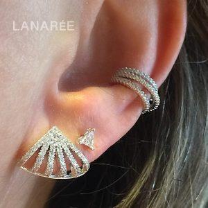 Brinco Ear Cuff Seis Linhas Prata 925 | Lanarée Acessórios