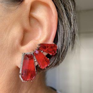 Brinco Ear Cuff Malibu Rubi | Lanarée Acessórios