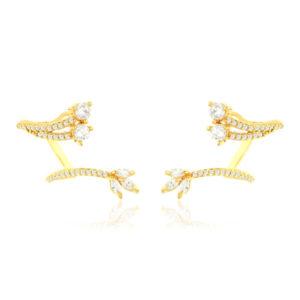 Brinco Ear Cuff Hera Dourada | Lanarée Acessórios