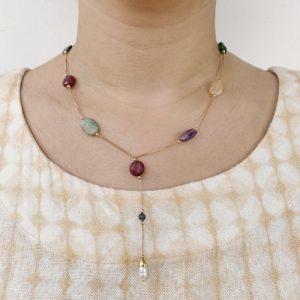 Colar Gravatinha de Pedras Naturais | Lanarée Acessórios