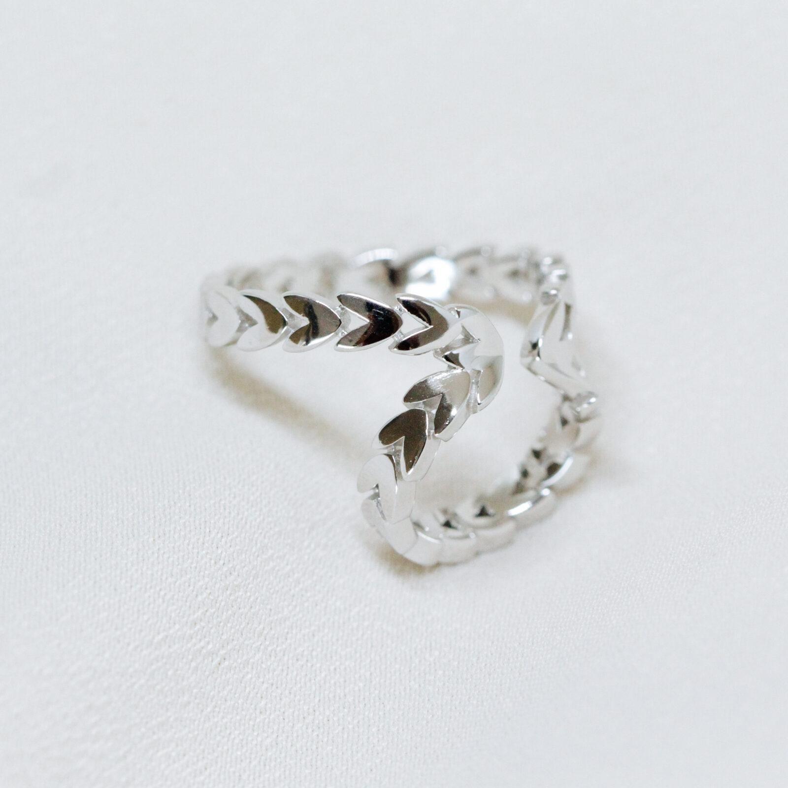 Brinco Piercing de Orelha Liso Prata 925 | Lanarée Acessórios