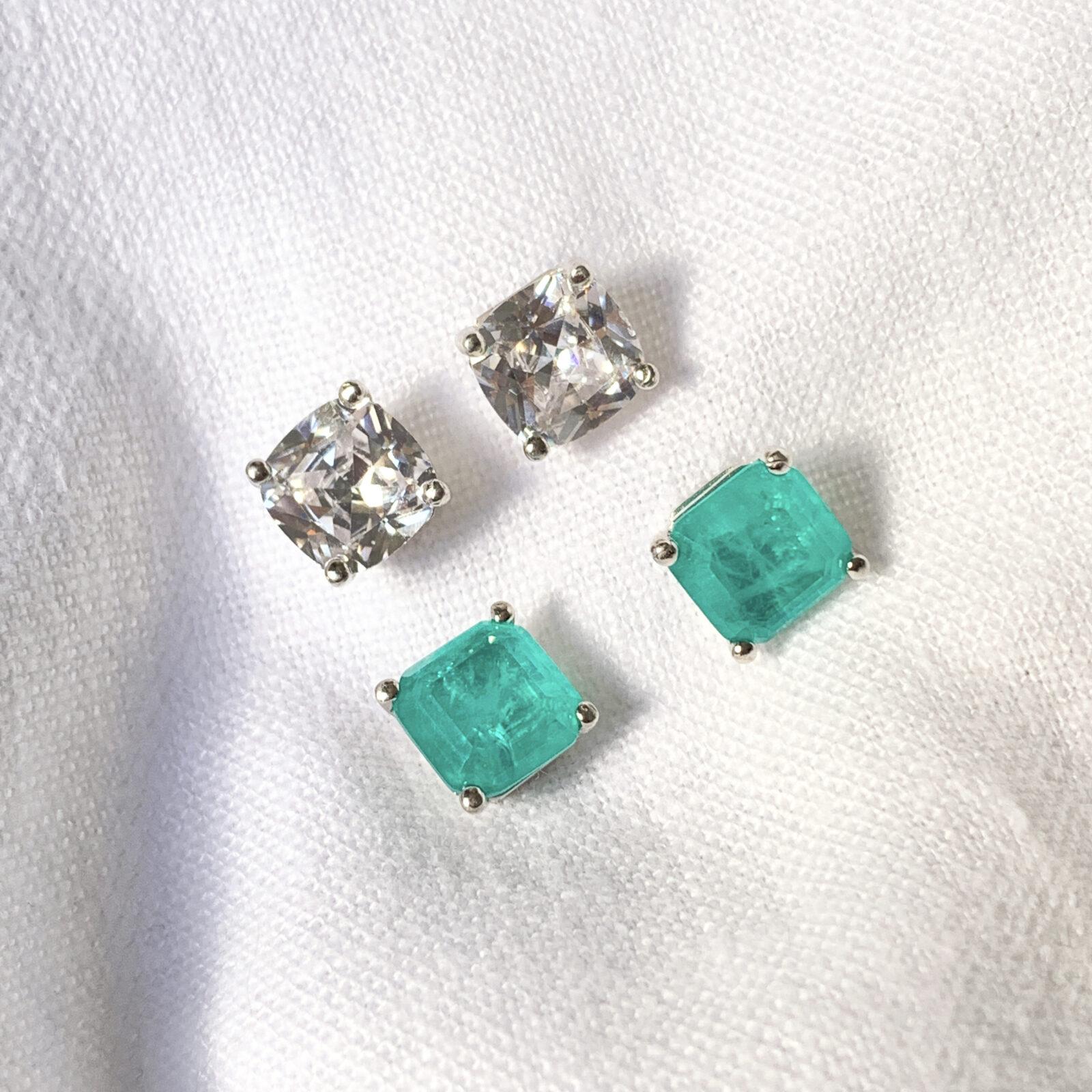 Brinco Quadrado Cristal Fusion Prata 925 | Lanarée Acessórios